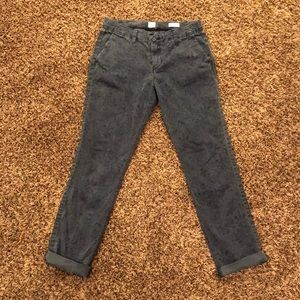 Gap Paisley navy pants (girlfriend chino style)